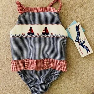 NWT smocked bathing suit